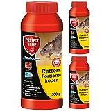 SBM Protect Home GARDOPIA Sparpaket: 3 x 500g Rodicum Ratten Portionsköder + Gardopia Zeckenzange mit Lupe