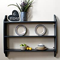 Three tier shelf, very dark grey, nearly black, 6 sizes available