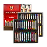 KOH-I-NOOR TOISON D'OR 8516 Crayons Pastels Doux pour l'Artiste dans un coffret en carton (Lot de 48)