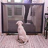 Puruitai Magic Gate für Hunde ? Haustier Hund tragbar einziehbar klappbar Netzgitter Gate ? für Haus und Innenbereich ? Hund Sicher Schutz überall installieren