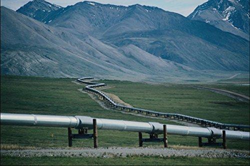 801070 Trans Alaska Pipeline Winds Through Atigun Pass Brooks Range Alaska USA A4 Photo Poster Print 10x8 (Range Brooks Trans-alaska-pipeline)