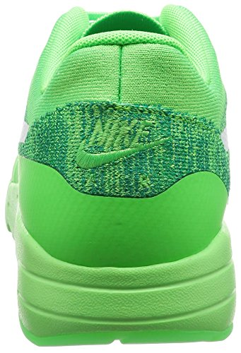 Nike Air Max 1 Ultra Flyknit, Chaussures de Running Entrainement Homme, Orange, 45 EU Vert (Voltage Green / White-Lucid Green-Rio Teal)
