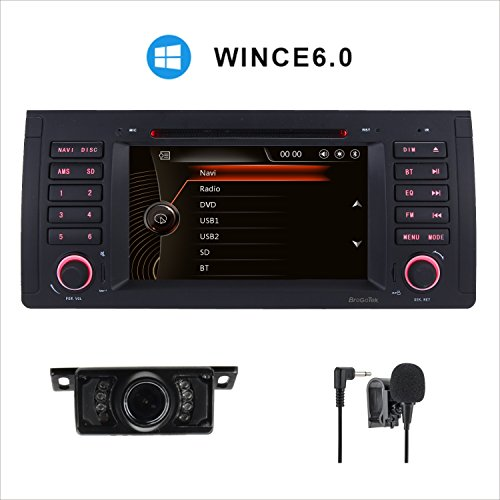 HD 17,8cm double écran tactile capacitif 1DIN Système stéréo de voiture SAT NAV Navigation GPS CD DVD pour BMW E395Serias E53X5Serias E387Serias M5EU carte + Caméra de recul + externe Mircophone & Build en