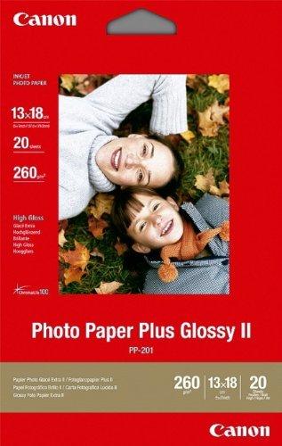 Canon Fotopapier, 20 Blatt 13 x 18, Hochglänzend glossy, PP-201 Photo Paper Plus Glossy II 260g, 13x18, PP201 - Paper Photo Glossy Plus Ii