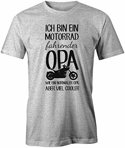 Ich bin ein Motorrad fahrender Opa - Herren T-Shirt Grau Meliert