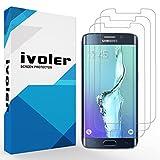 [Upgrade Version] Protection écran Galaxy S6 Edge Plus, iVoler [Lote de 3] 3D Incurvé Couverture Complète [Liquide Installation] [Anti-rayures] [Sans bulles] TPU Film Protecteur HD Transparent Screen Protector pour Samsung Galaxy S6 Edge Plus