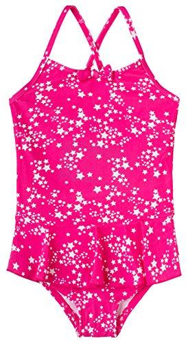 Sanetta Mädchen Badeanzug 430393, Rosa (Heavy Pink 3875), 116