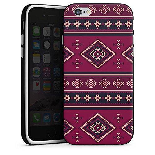 Apple iPhone X Silikon Hülle Case Schutzhülle Ethno Muster Indianer Silikon Case schwarz / weiß