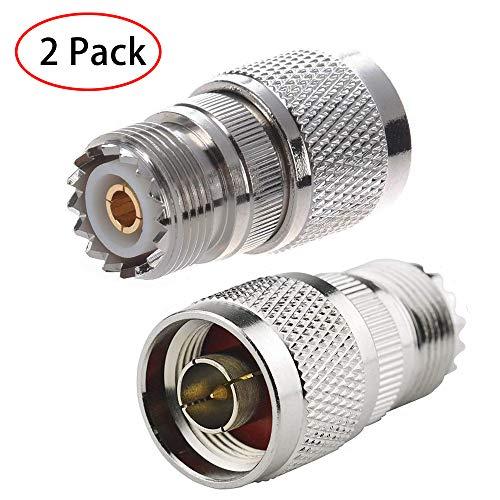 Weiblichen Koax-adapter Stecker (TengKo RF Koaxial Koax Adapter N Stecker auf UHF Buchse SO-239 Koaxial Adapter (2er Pack))