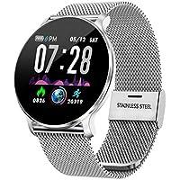 TagoBee TB11 Orologi Touch IP68 Impermeabile Salute Watch Bluetooth Trackers Fitness compatibile con Android e IOS per Uomo/Donna/Bambini(Argento)