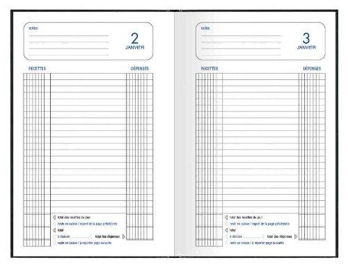 Lecas Agenda Civil 1 Page par Jour 14 x 22 cm Année 2018 Noir
