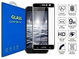 What@Store HTC U11 - Panzerglas Schutzfolie [3D Gebogen Full Deckung] 3D Curved Kante zu Kante Gehärtetem Glas Displayschutzfolie für HTC U11 / HTC U11 Dual SIM (Schwarz)