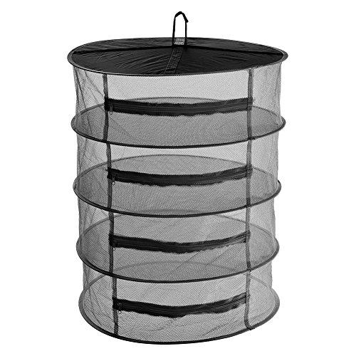 Trocknen Rack-einheit (Trocknungsnetz Faltbare Mesh Large Hanging Drying Net Zum Aufhängen Wasser Kultur Tent Herb Bud Plant Trocknen Rack Net, 4 Schicht, 40cm/60cm)