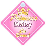 Crown Princess Maisy On Board Personalised Baby / Child Girls Car Sign