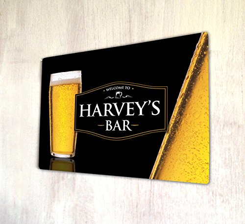 bienvenida-personalizada-negro-sidra-bar-a4-metal-sign-placa-pared-arte