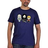 Juego de tronos - camiseta de Daenerys, Jon y Tyrion - de la marca Toonstar, cuello redondo y corte cómodo, hasta la talla XXL, algodón, azul marino - XS