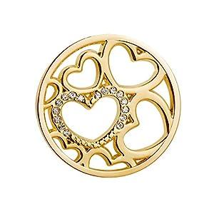 U Deserved Jewelry Herz Damen Coins Schmuck 25mm Coin Vergoldet fur Coin Kette