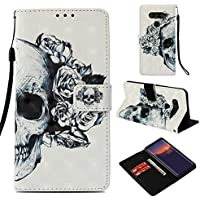 Shinyzone Flip Brieftasche Hülle für LG V40/LG V40 ThinQ,Weiße Rose 3D Bunt Gemälde Ledertasche mit Kartenfach... preisvergleich bei billige-tabletten.eu