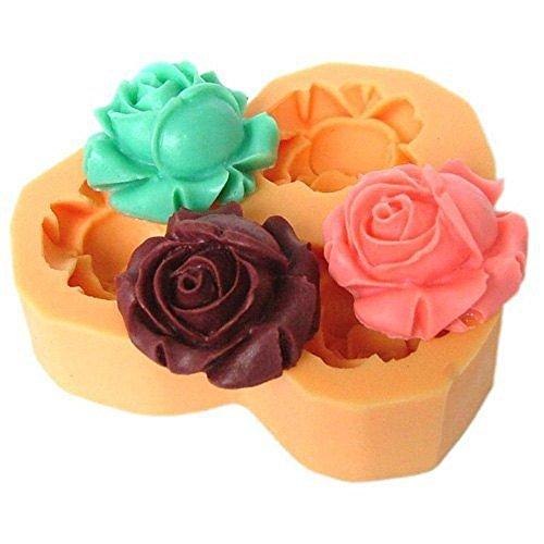 Stampo in silicone per uso artigianale 3 rose