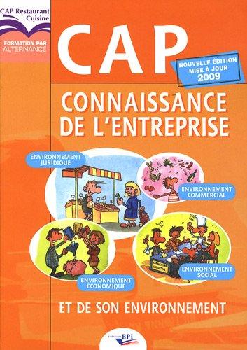 CAP Connaissance de l'entreprise et de son environnement