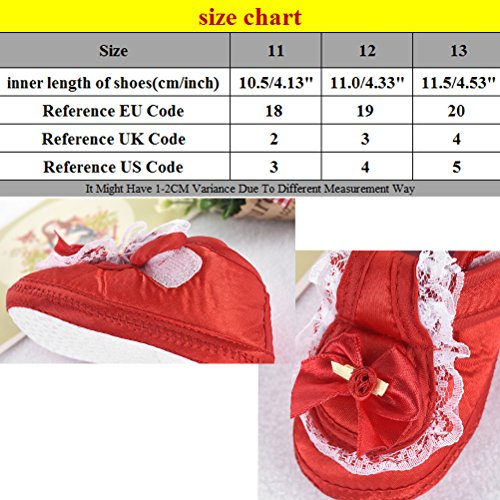 Zhuhaitf Ausgezeichnet Bowknot Decoration Baby Girls Anti-slip Soft Sole Shoes First Walking Shoes Pink