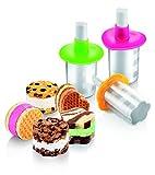 Tescoma Bambini Eis-Sandwich-Stempel aus Kunststoff, Mehrfarbig, 3-teilig
