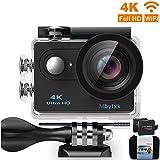 Mbylxk Action Kamera 4K, 2.0 Zoll Eingebautes WiFi Action Kamera wasserdicht 30M, 2.4G Remote Auto...