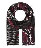 Majea Schal Damen Tuch Kopftuch Halstuch Schals und Tücher mit Muster Stola (weinrot 6)