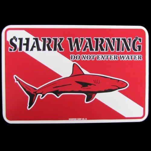 Shark ACHTUNG Tauchen Dive Flagge Schild Do not enter -