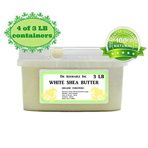 Premium High Quality Shea Butter WHITE Unrefined Raw Organic 12 lb