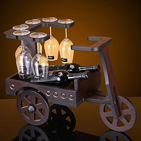 Rack armadio rack di vino vino vini ornamenti appendono cremagliera vetro calici vino , 1