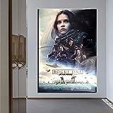 yhyxll Unframe Wohnkultur Wohnzimmer Science Fiction Filme HD gedruckt Moderne Leinwand Malerei Wandkunst Modulare Poster 50x70 cm