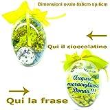 Idea Regalo 8 Marzo Festa della Donna uovo cofanetto personalizzata con frase e cioccolatino