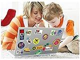 OVVO Durevole Circa. 24Pcs Creativo Graffiti Sticker Laptop Notebook Paster Custodia per auto da viaggio