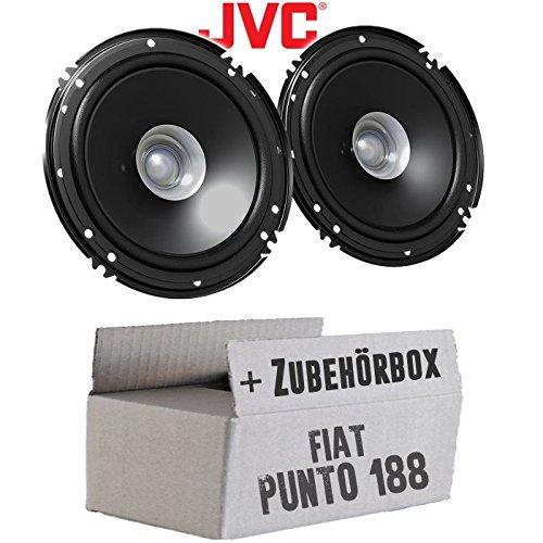 Lautsprecher Boxen JVC CS-J610X - 16cm Auto Einbauzubehör 300Watt Koaxe KFZ PKW Paar - Einbauset für FIAT Punto 2 188 Front - JUST SOUND best choice for caraudio