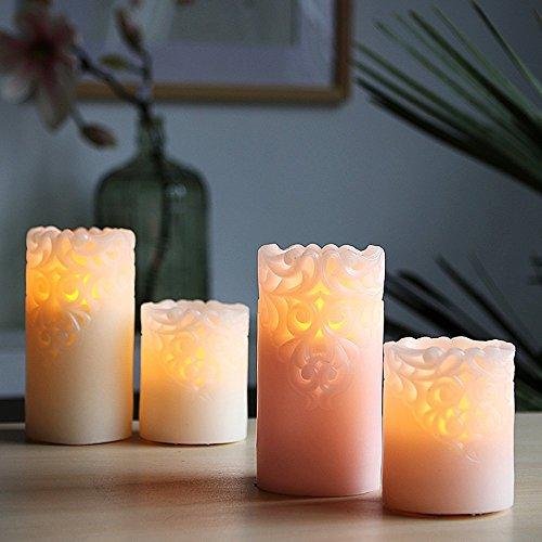 Romantico a lume di candela cena senza fumo candela elettronica candela irregolare LED candela intagliato paraffina elettronico candela matrimonio romantico compleanno bar a lume di candela