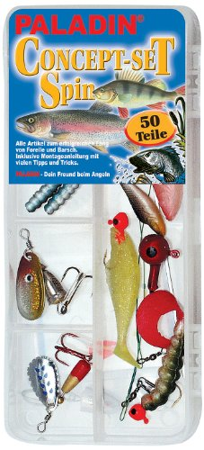 Paladin  Set: Angelschnüre-haken Spinset Forelle/barsch, farbig, 4300006
