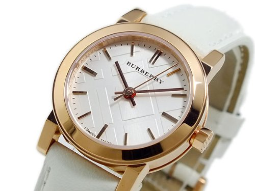 Burberry Bu9209 - Reloj para mujer, esfera blanca y oro rosa