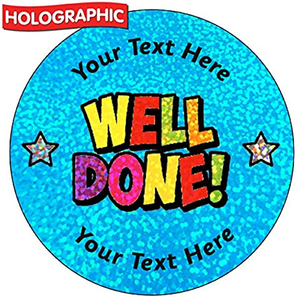 72 Personalised Holographic Sparkly Star Of The Day Motivational School Praise Teachers Reward Stickers 35mm Primary Teaching Services