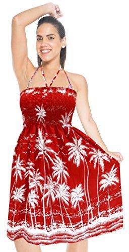 Bademode halter neck midi Rohr maxi verschleiern Badebekleidung Kleid kurz Badeanzug Top-Rock Rot