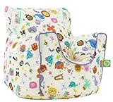 Cotton Party Animal Bean Bag Arm Chair