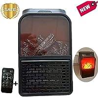 Nifogo Heater Mini Estufa Eléctrica Termoventilador Bajo Consumo, Temporizador de 12 Horas & Adaptador Giratorio