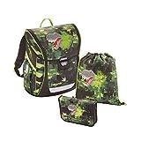 baggymax Schulranzen-Set Fabby 3-tlg Green Dino bm green dino