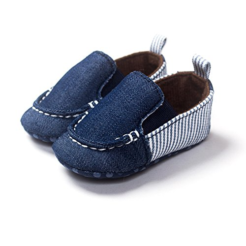 Fire Frog  Baby Loafer Shoes, Baby Jungen Lauflernschuhe Blau