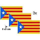Pegatinas 8x 5cm de Cataluña de España Estelada BLAVA