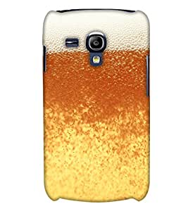 PrintHaat Designer Back Case Cover for Samsung Galaxy S3 Mini I8190 :: Samsung I8190 Galaxy S Iii Mini :: Samsung I8190N Galaxy S Iii Mini (happy moments beer design in yellow and brown)