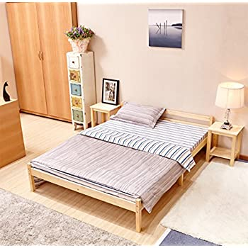 greenforest pine bed double wooden bed frame pine color - Pine Bed Frame