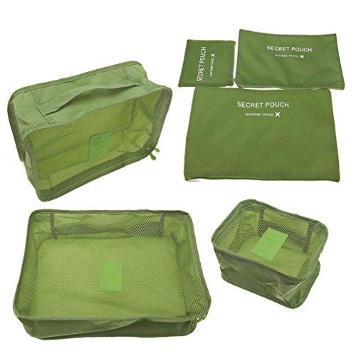 3 Stück Netz-gepäck-set (6x INNENTASCHE Tasche Organizer SCHMINKTASCHE MAKEUP HANDTASCHEN BAG)