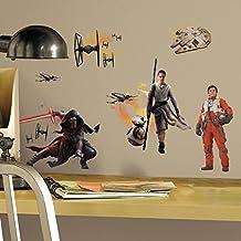 RoomMates RMK3010SCS - Pegatinas de pared, diseño Star Wars Elenco Episodio 7