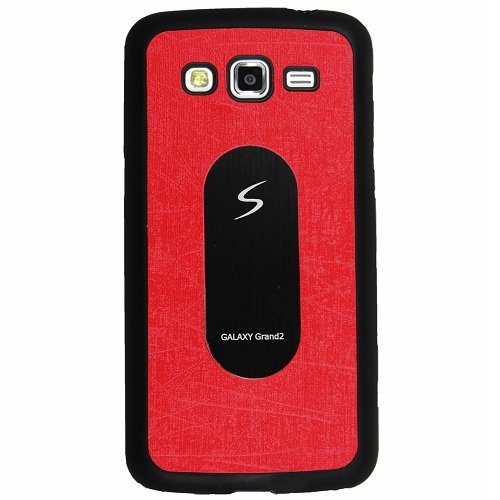 Casotec Metal Back TPU Back Case Cover for Samsung Galaxy Grand 2 - Red  available at amazon for Rs.119